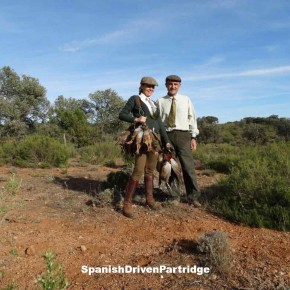 Red-legged partridge driven shoot in Spain