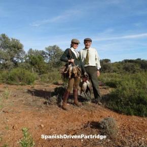 Red-legged partridge driven shoot in Spain